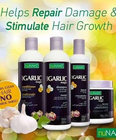 nuNaat Garlic Magic Hair Care Line