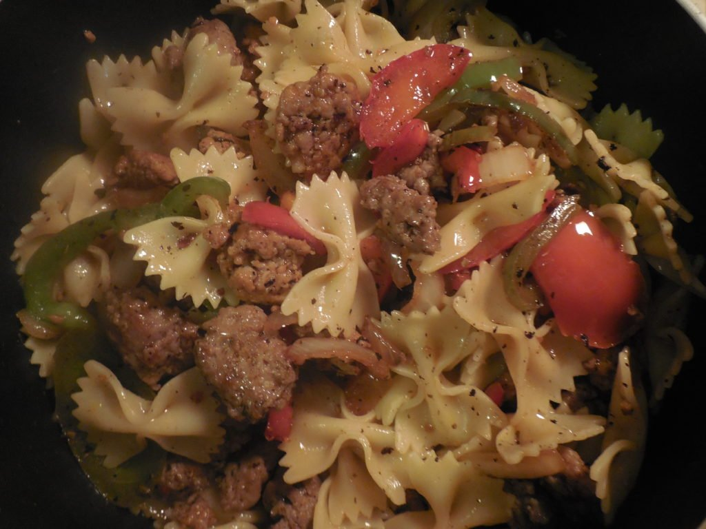 Premio Sweet and Hot Italian Sausage, Peppers and Pasta Recipe