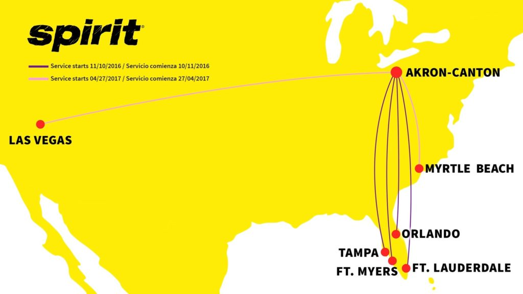 Fly With Spirit Airlines With New Routes From Akron Canton To Florida