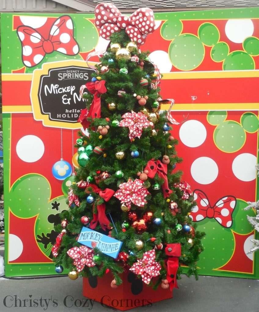 Disney Springs Mickey and Minnie Christmas Tree