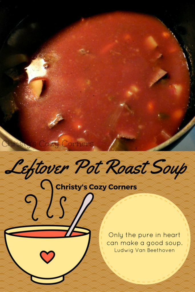 Leftover Pot Roast Soup