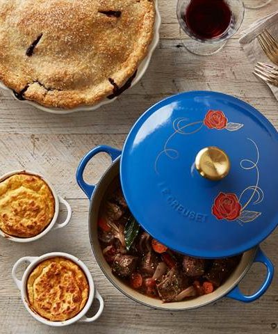 Beauty and the Beast Le Creuset Soup Pot from Williams Sonoma and New England Boiled Dinner