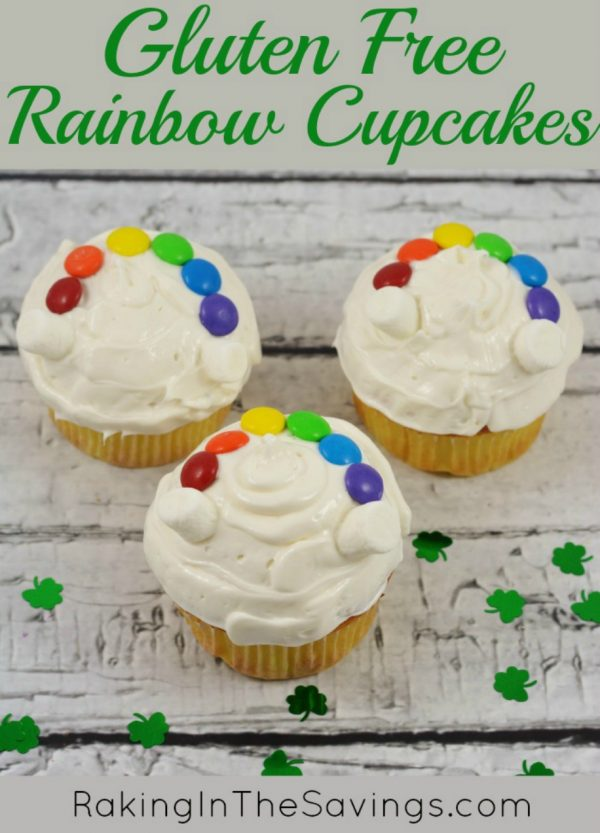Gluten Free Rainbow Cupcakes for St. Patrick's Day