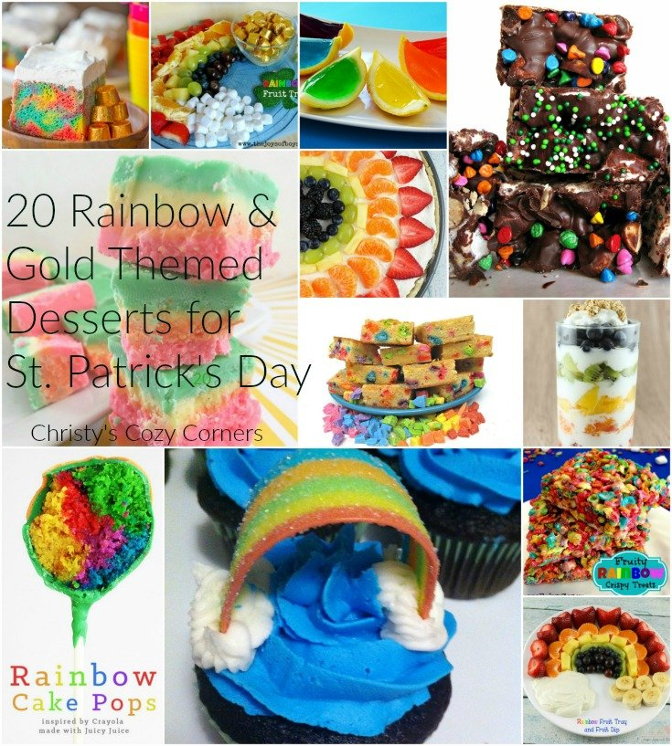 20 Gold and Rainbow Themed Desserts for St. Patrick's Day