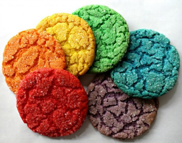 Rainbow Cake Mix Cookies for St. Patrick's Day
