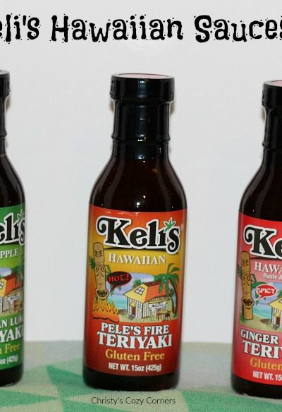 Teriyaki Chicken and Pineapple Pizza with Keli's Sauces: Great Gifts for Mother's Day and Father's Day