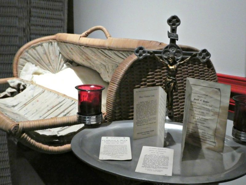 Basket coffin used for a baby or small child in the 1800s or early 1900s