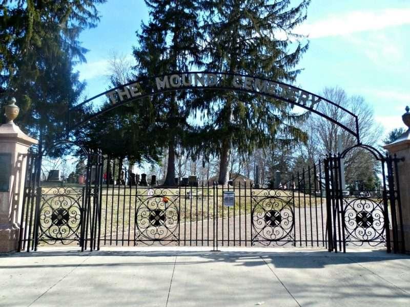 Mound Cemetery gates