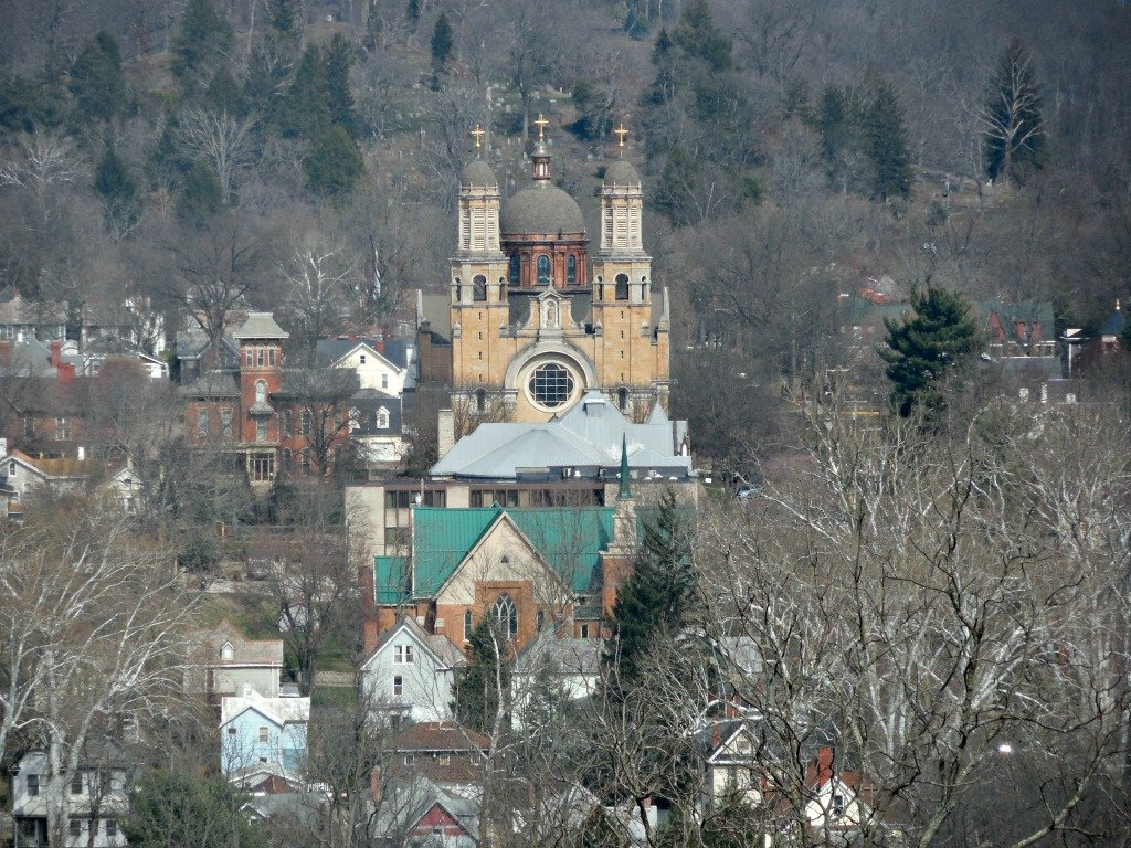 The Basilica of Saint Mary and The House on Harmar Hill in Marietta, Ohio