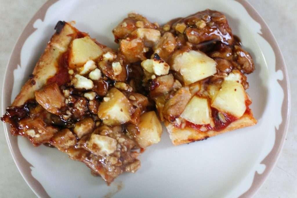 Teriyaki Chicken and Pineapple Pizza with Keli's Sauces