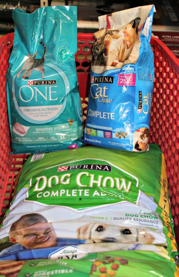 Purina Pet Food in cart at Tractor Supply Co