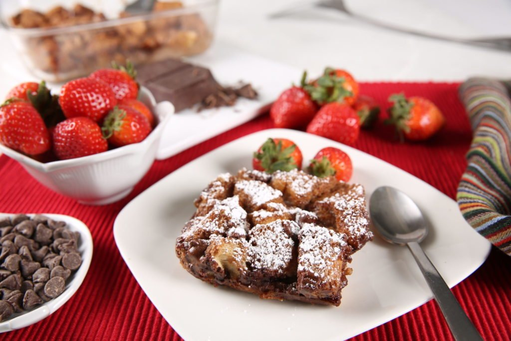 Double Chocolate Bread Pudding with Premier Protein Shakes: Spoil Mom this Mother's Day