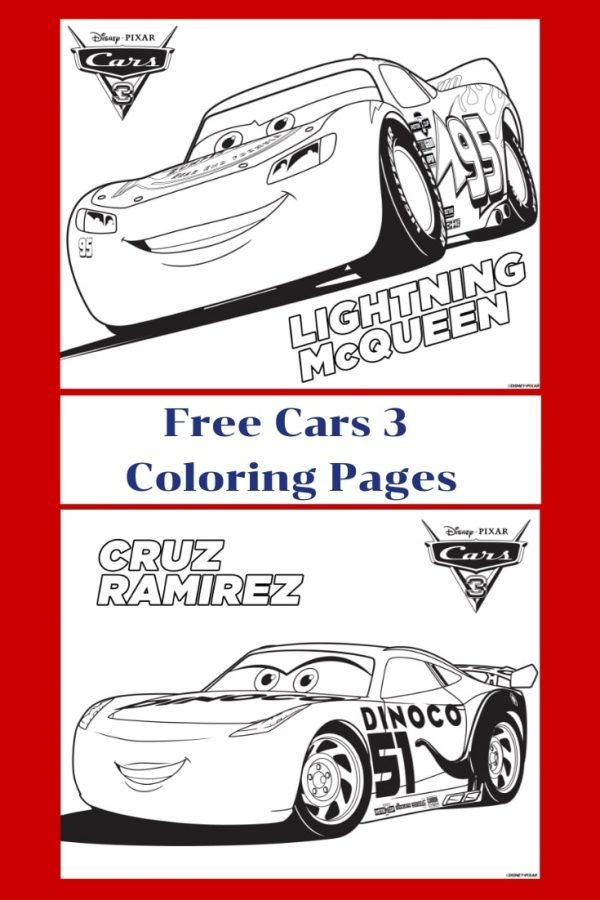 - Cars 3: Free Cars Printable Coloring Pages - Christy's Cozy Corners