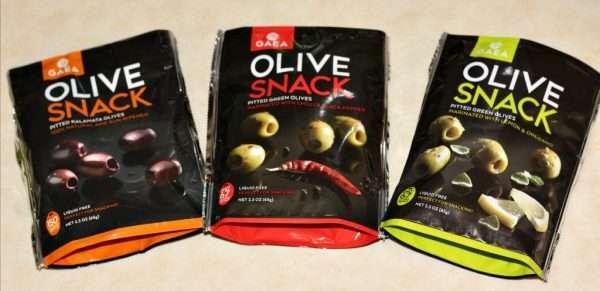 Gaia olive snacks