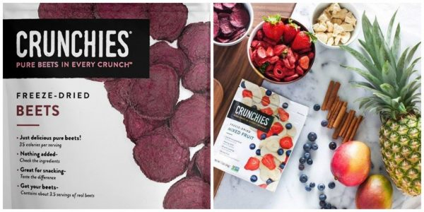 Crunchies vegetable and fruit snacks