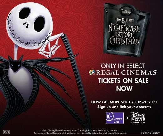 The Nightmare Before Christmas Returns to Regal Cinemas this Halloween Weekend!