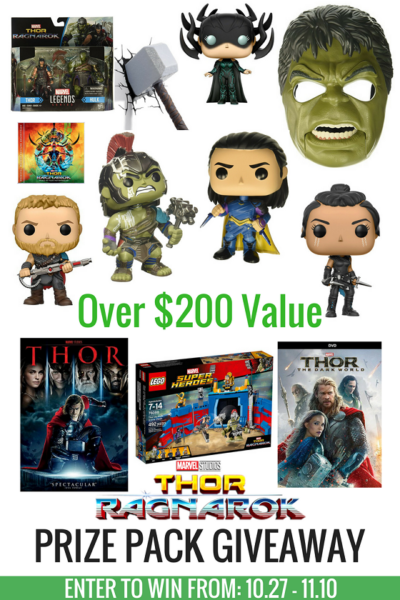 Enter to Win an Amazing Thor: Ragnarok Prize Pack US 11/10 #ThorRagnarok
