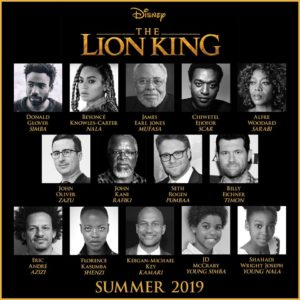 THE LION KING Roars to Life July 2019: Cast Announcement