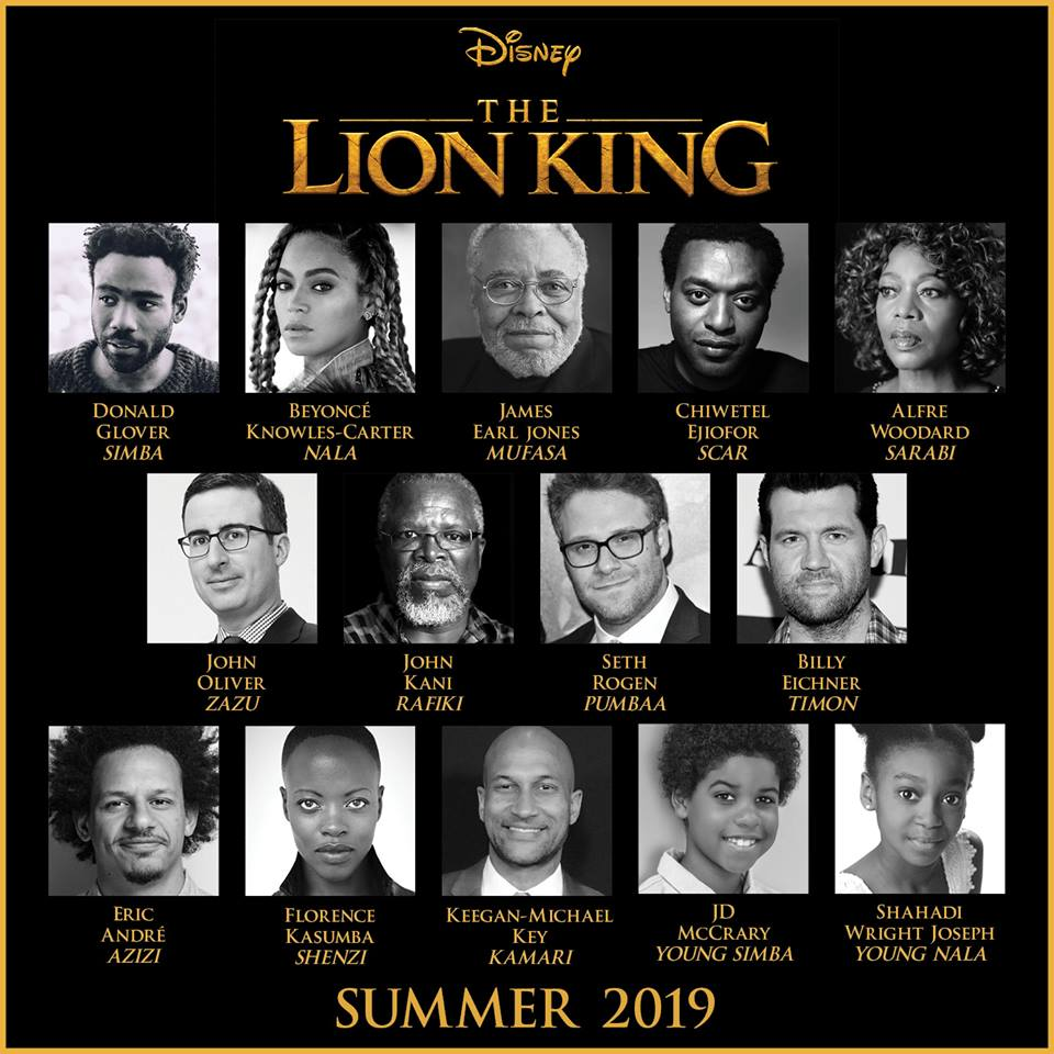 the lion king roars to life july 2019  cast announcement