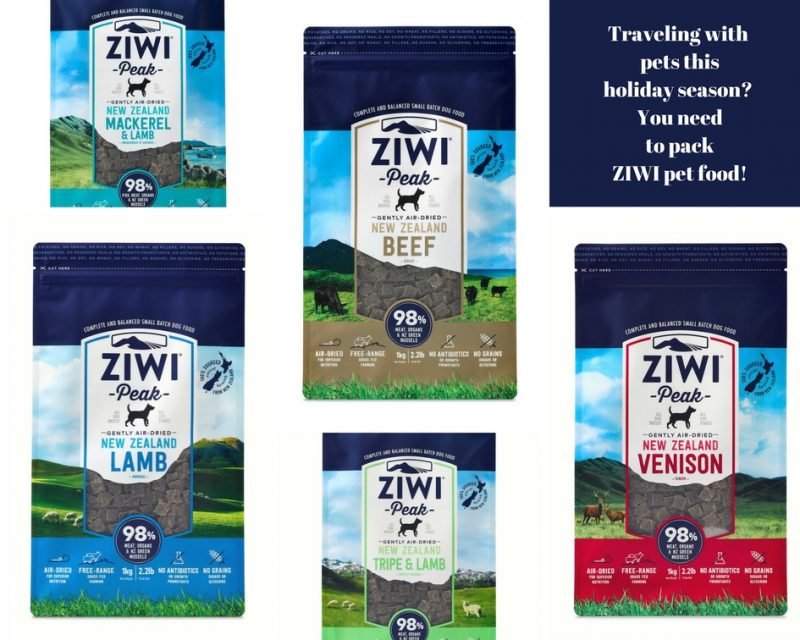 Traveling During the Holidays With Your Pets and Ziwi Pet Food