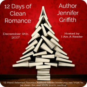 12 Days of Clean Romance Day 6 Jennifer Griffith $25 Giveaway WW 12/22