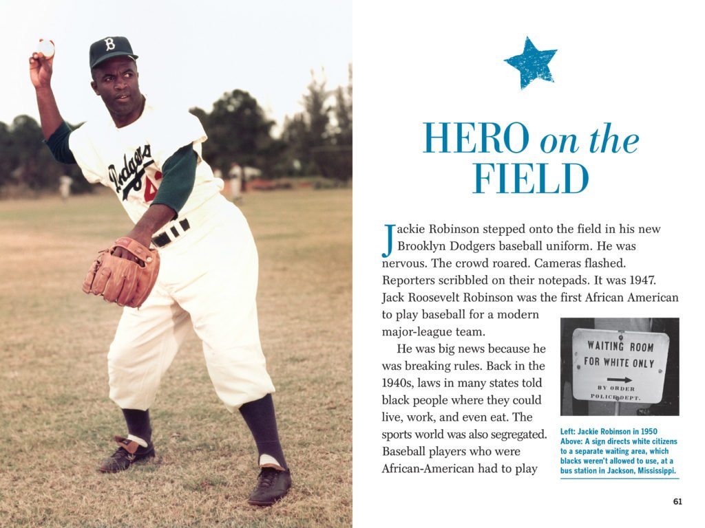 Black History Month and Jackie Robinson Heroes of Black History Book Tour