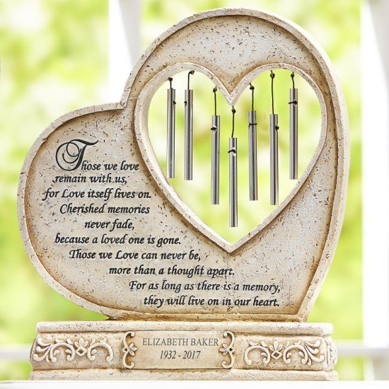 A sentimental wind chime could make a good funeral gift for someone you're close to.