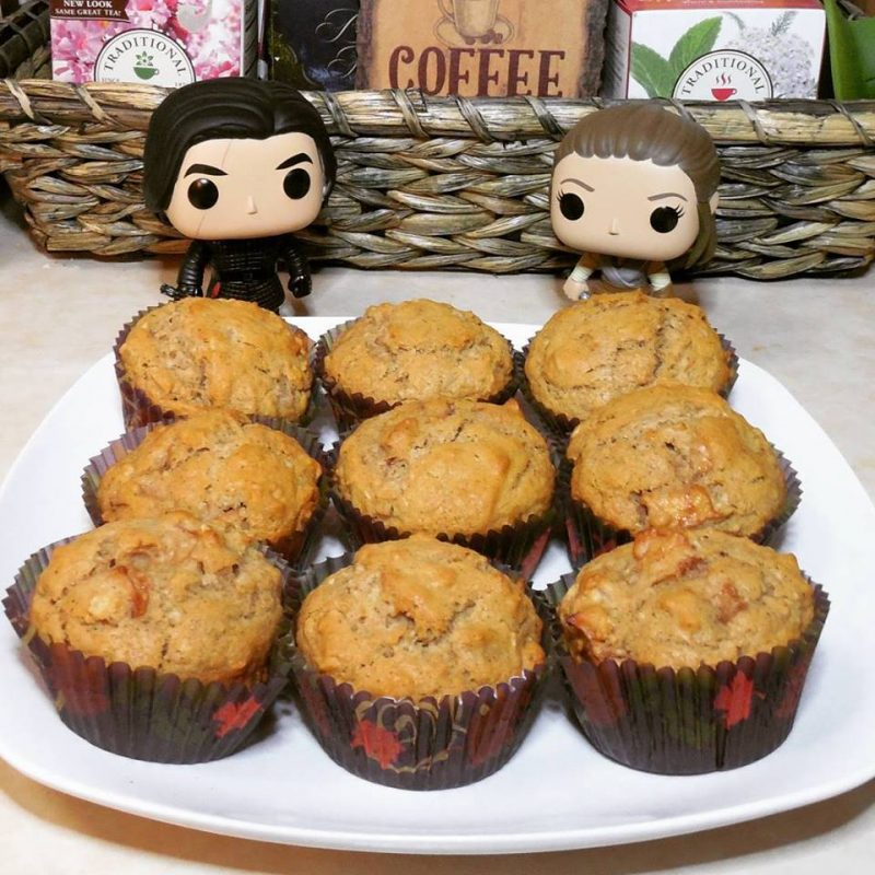 Get a yummy vegan recipe for apple muffins