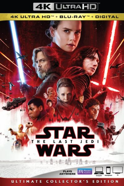 Bring Home Star Wars: The Last Jedi in HD and 4K Ultra HD™ and via Movies Anywhere and on 4K Ultra HD™ Blu-ray, and Blu-ray™
