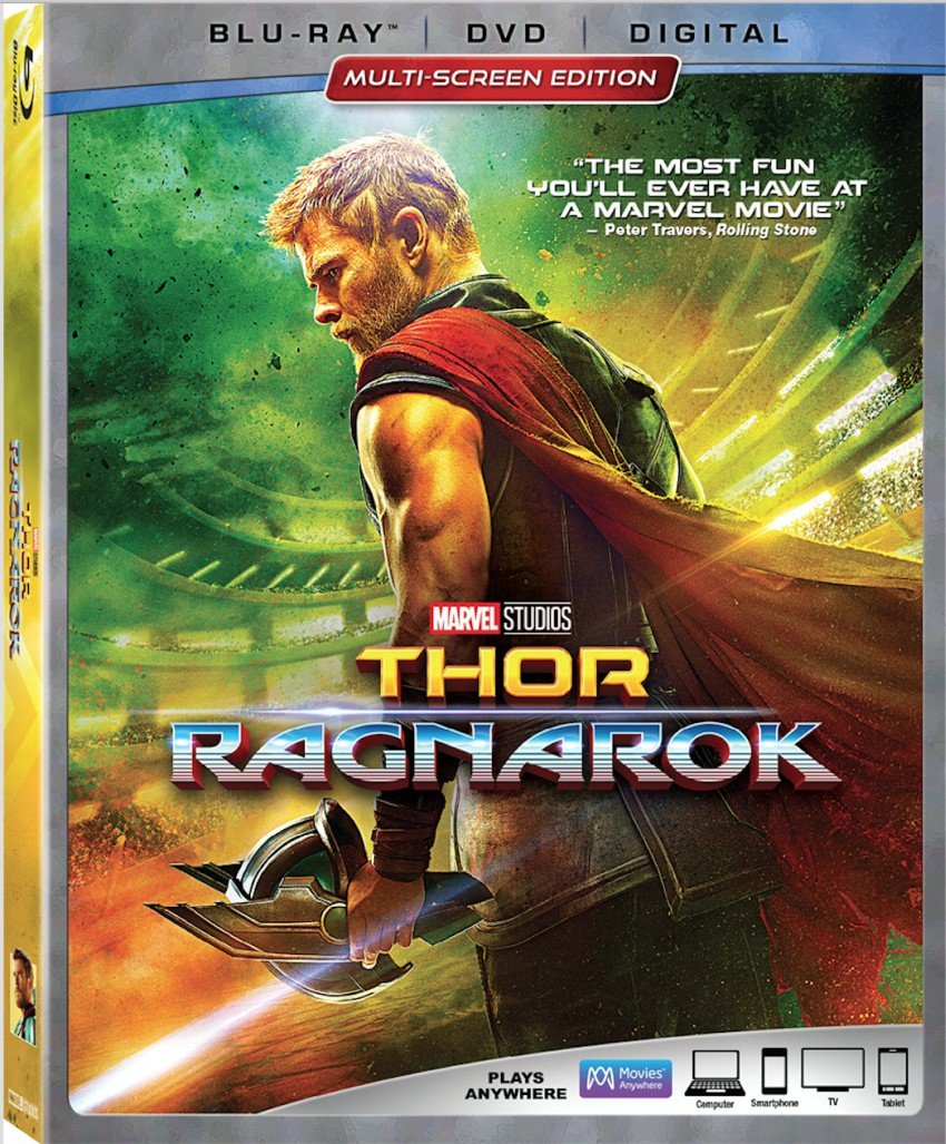 Thor: Ragnarok with Bonus Features on BluRay and Digital Now #ThorRagnarok