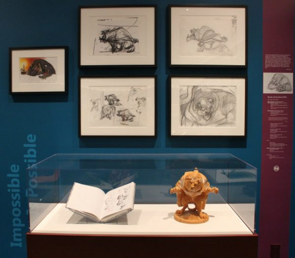 Sketches of the Beast by Glen Keane at The Walt Disney Family Museum
