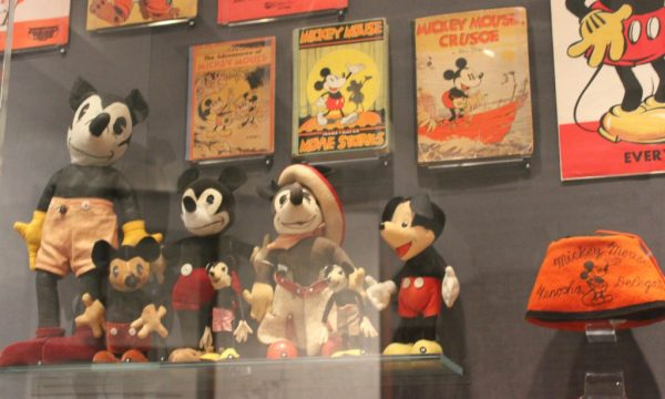 Mickey Mouse collectibles at The Walt Disney Family Museum