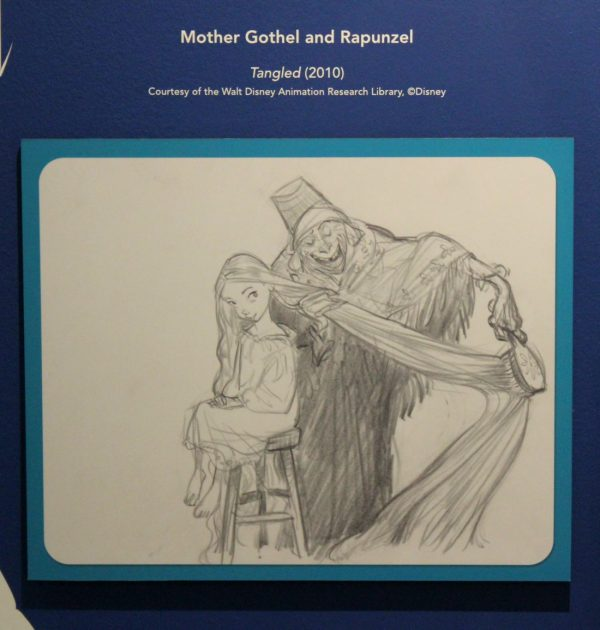 Mother Gothel and Rapunzel sketch by Glen Keane The Walt Disney Family Museum