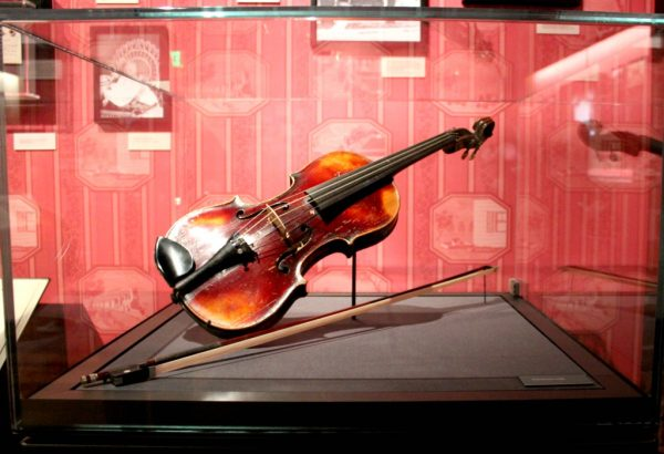 Walt's violin at The Walt Disney Family Museum