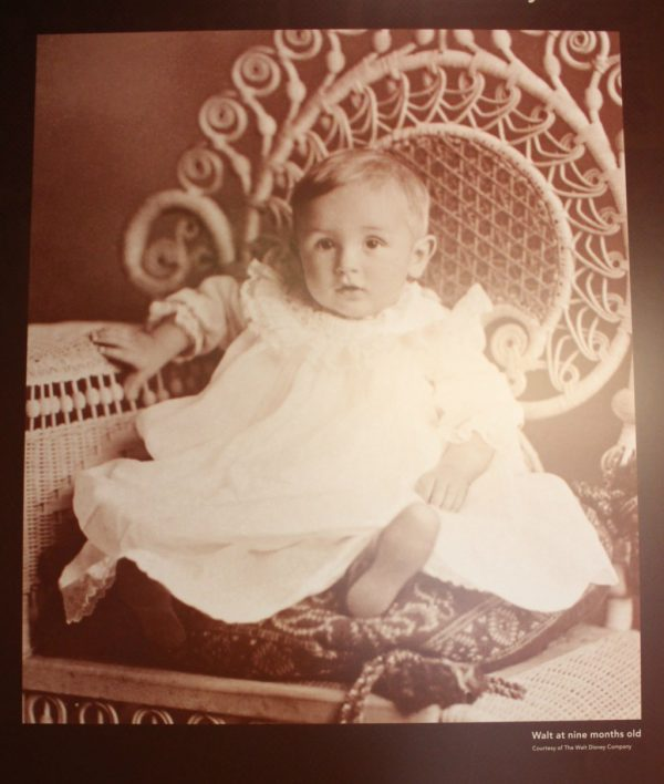 Photo of Walt Disney as a baby at The Walt Disney Family Museum