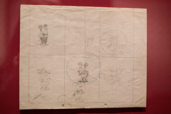 Earliest known drawing of Mickey Mouse at The Walt Disney Family Museum