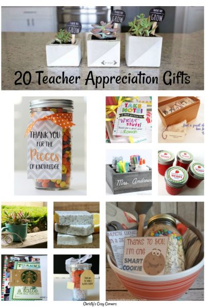 20 Teacher Appreciation Gifts #ThankATeacher #TeacherAppreciationWeek