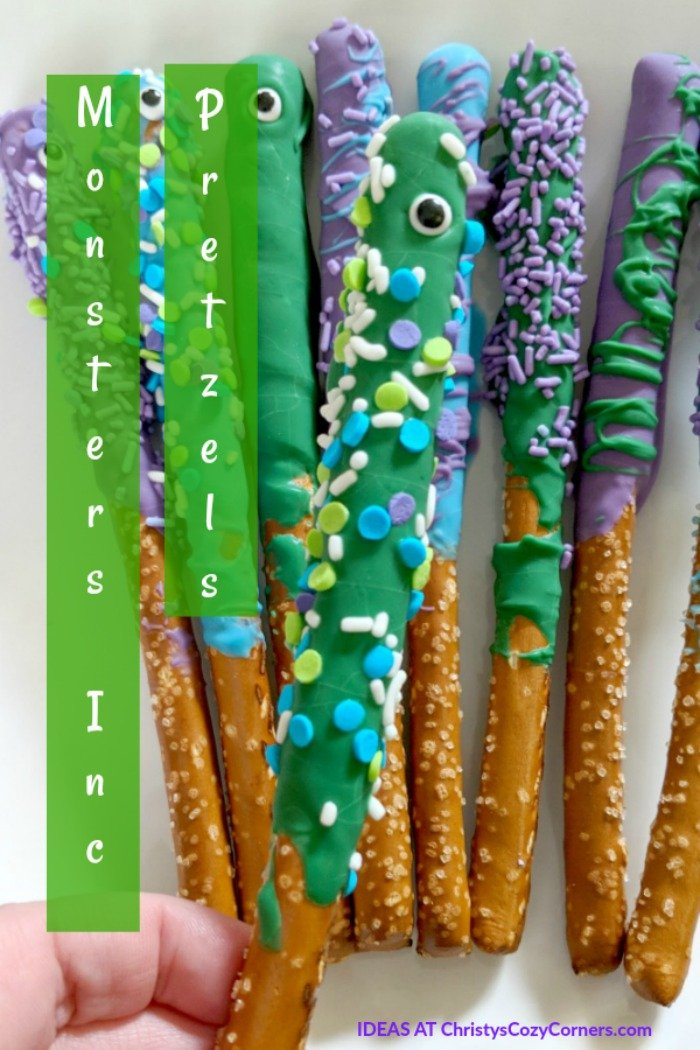 Have a Monsters, Inc. Party with These Monster Pretzel Rods