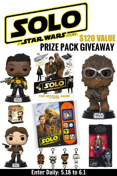 Star Wars Lovers! Enter to win a SOLO Giveaway Worth $120+ US 6/1 #HanSolo #THBGiveaway