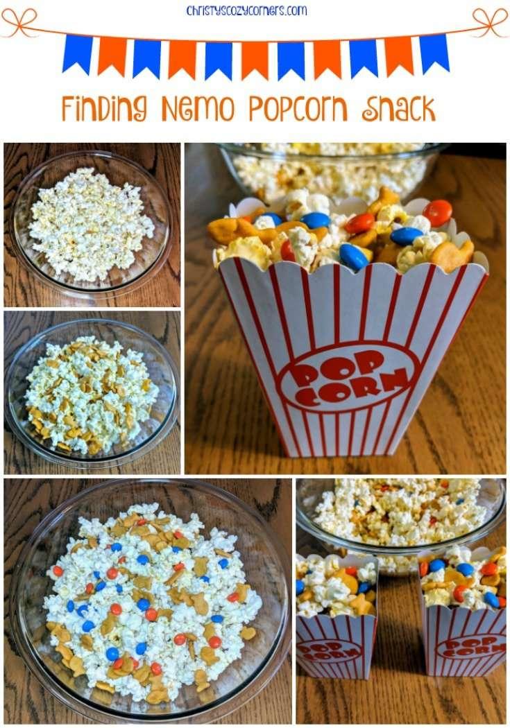 Enjoy this Finding Nemo Popcorn Snack for Pixar Fest
