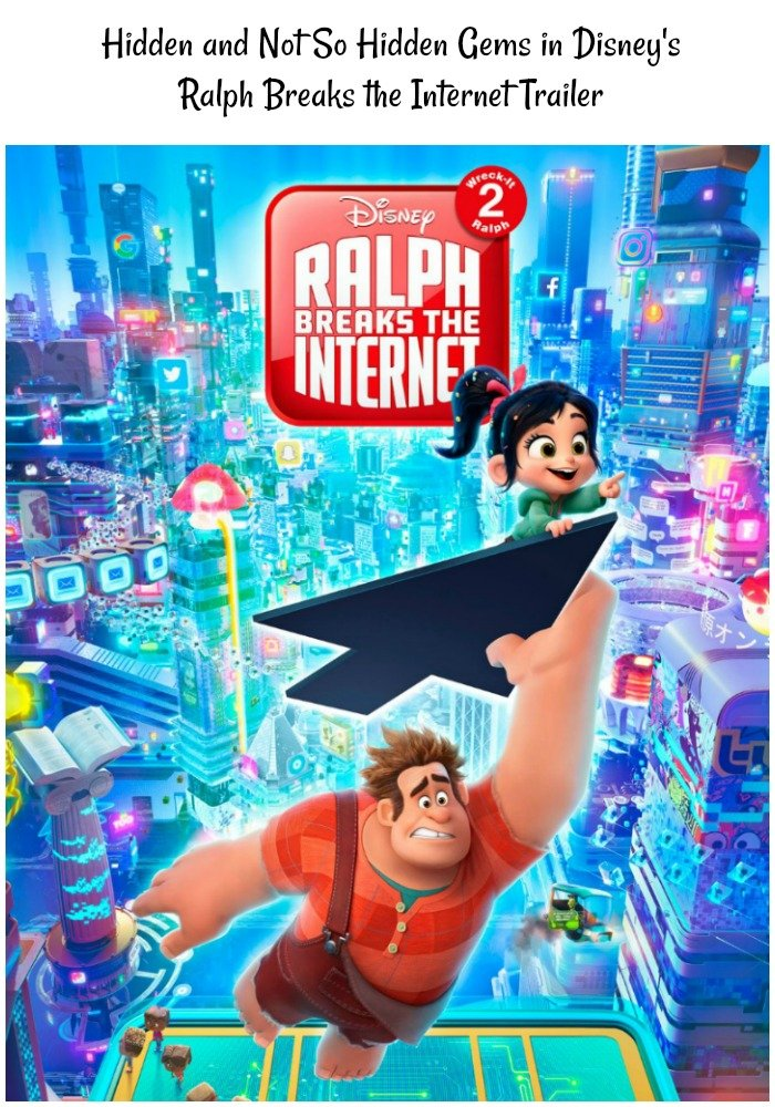 Hidden and Not So Hidden Gems in Ralph Breaks the Internet Trailer