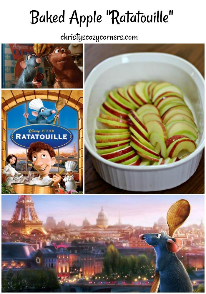 Easy Baked Apple Ratatouille Recipe Celebrate Pixar Fest by Watching Ratatouille
