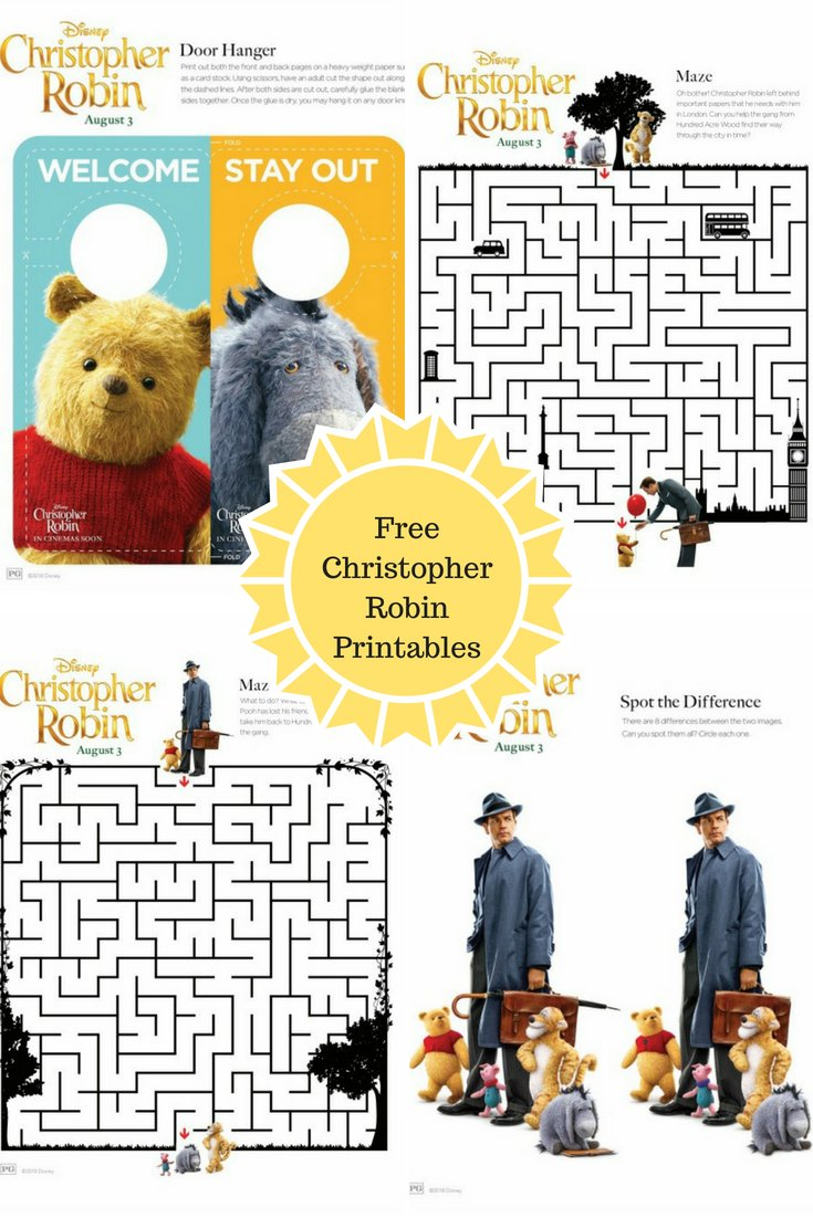 Christopher Robin Printable Activity Pages and Extended Sneak Peek