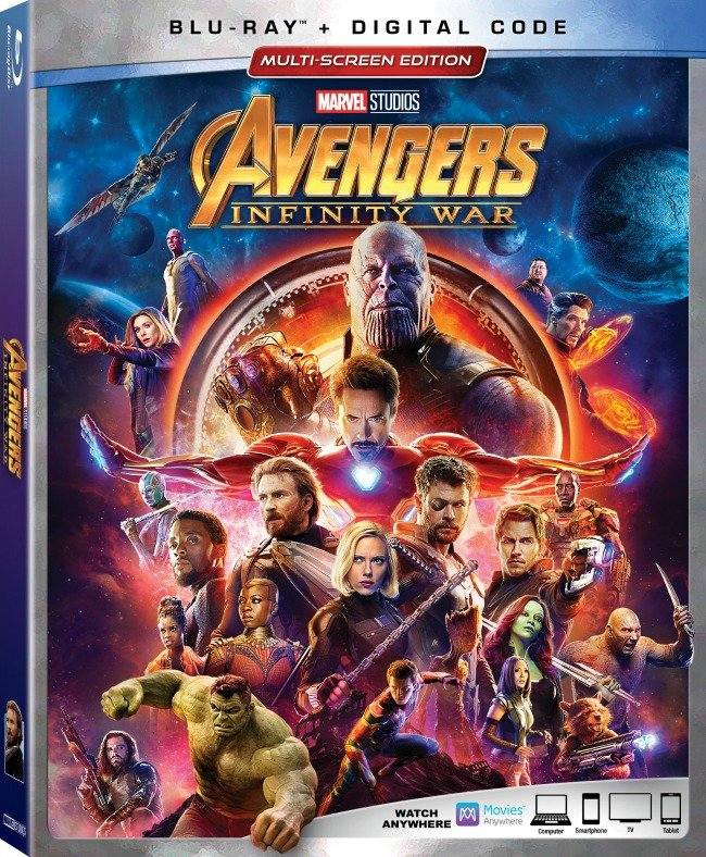 Avengers Infinity War Blu-Ray and Digital with Bonus Features