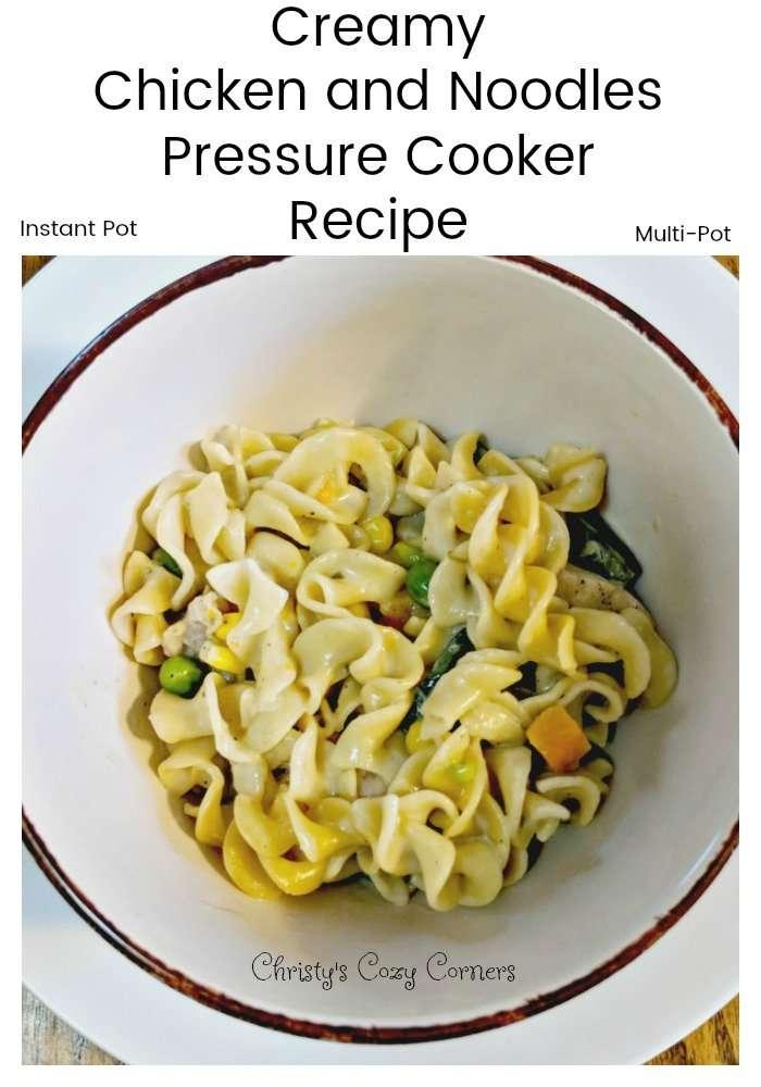 Creamy Chicken and Noodles Pressure Cooker Recipe