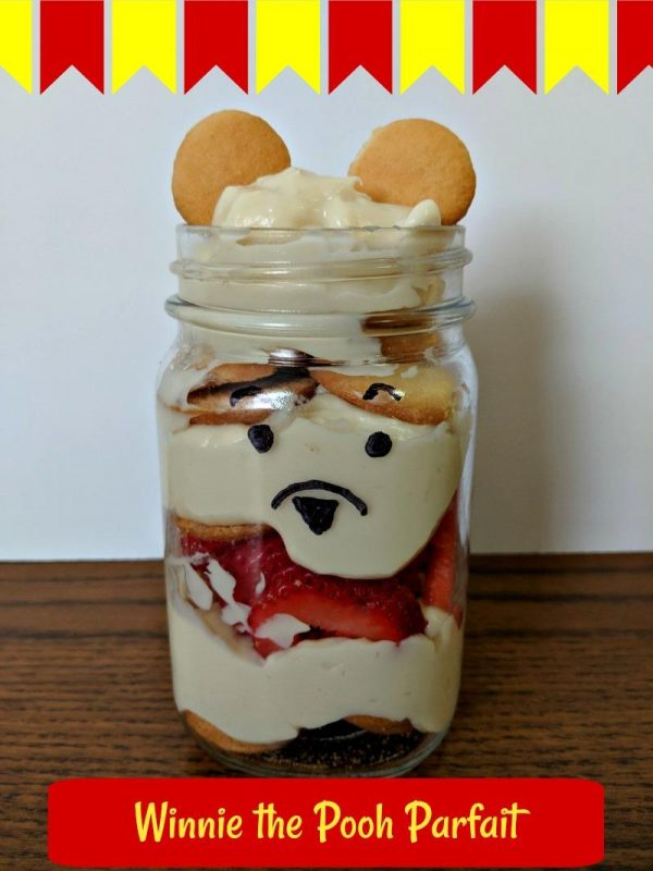 Winnie the Pooh Parfait and Christopher Robin Coloring Pages