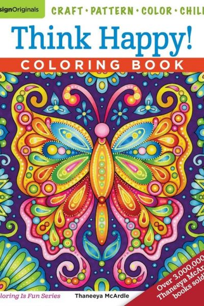 Think Happy Adult Coloring Book Review and Lazy Days of Summer Giveaway Hop US 8/30