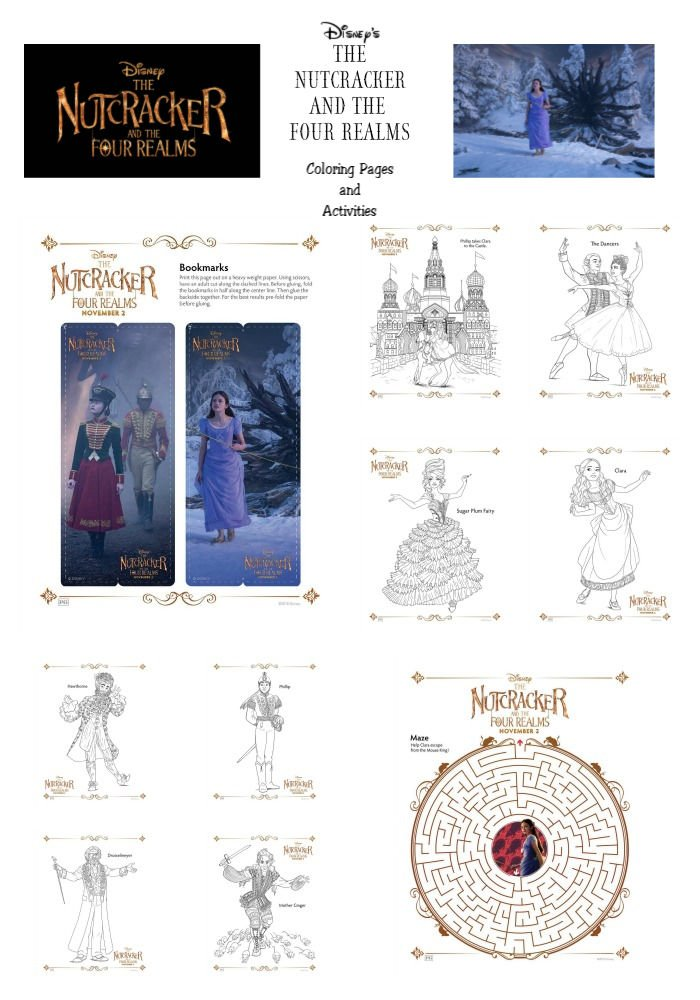 The Nutcracker and The Four Realms Coloring Pages and Activities