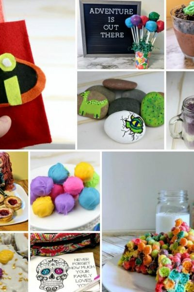 Pixar Movie Recipes, Crafts, and Printables Round-Up