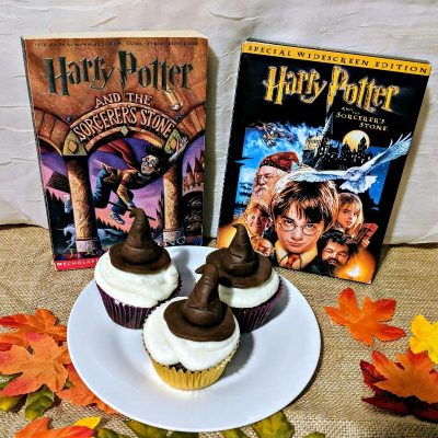 Sorting Hat Cupcakes and Movies to Watch Before The Crimes of Grindelwald Printable